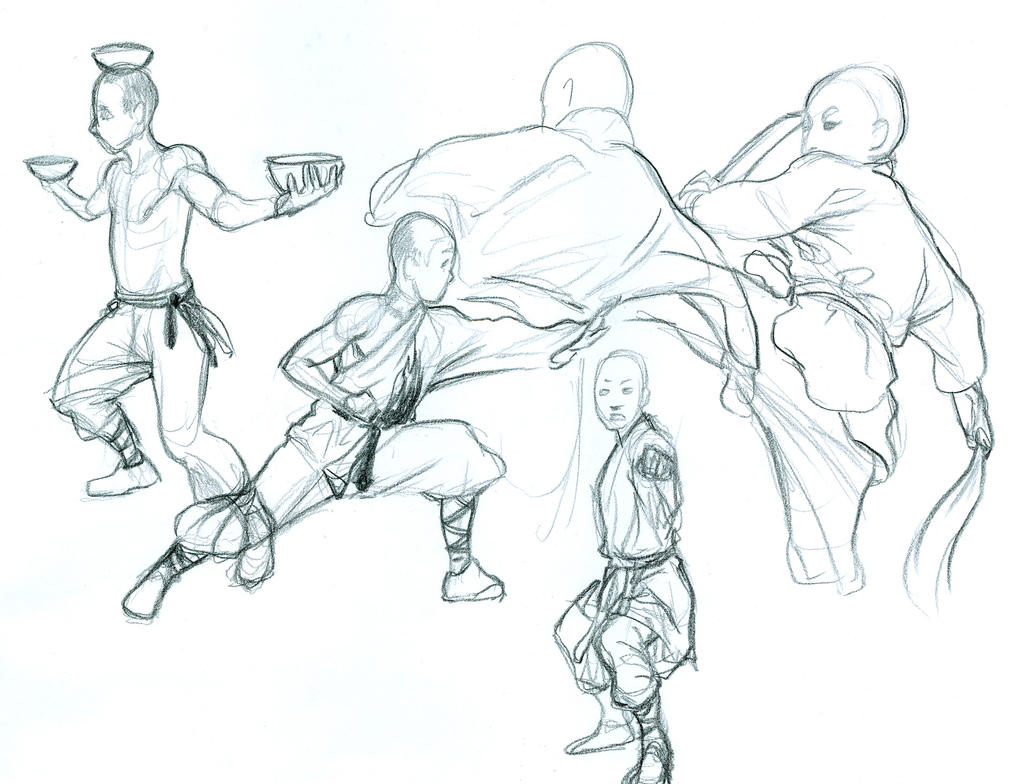 shaolin monk studies by curry23 on deviantart