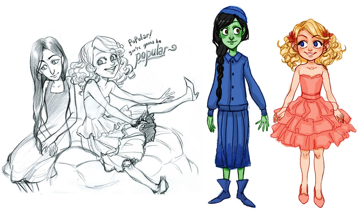 Glinda Character Wicked Drawing Wiring Diagrams 4060electronictimercircuitjpg The Musical And Elphaba By Curry23 On Deviantart Rh Com