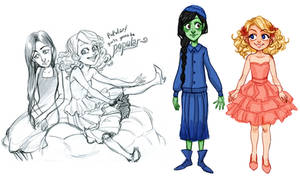 Wicked the Musical: Glinda and Elphaba