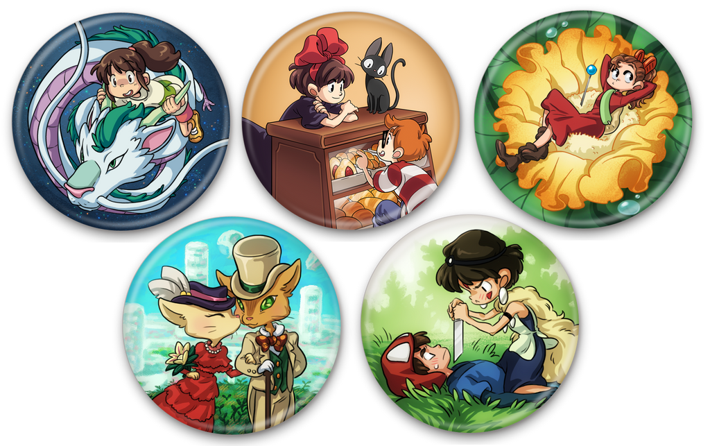 Ghibli Buttons by curry23