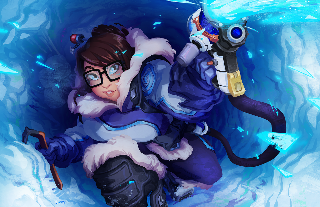 Overwatch - Mei repaint by curry23