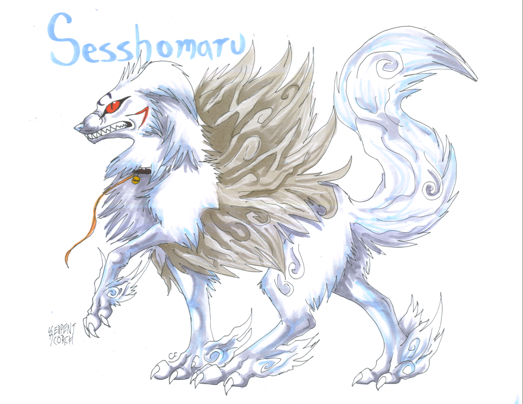 Sesshomaru Demon Form by SerpentScorch on DeviantArt