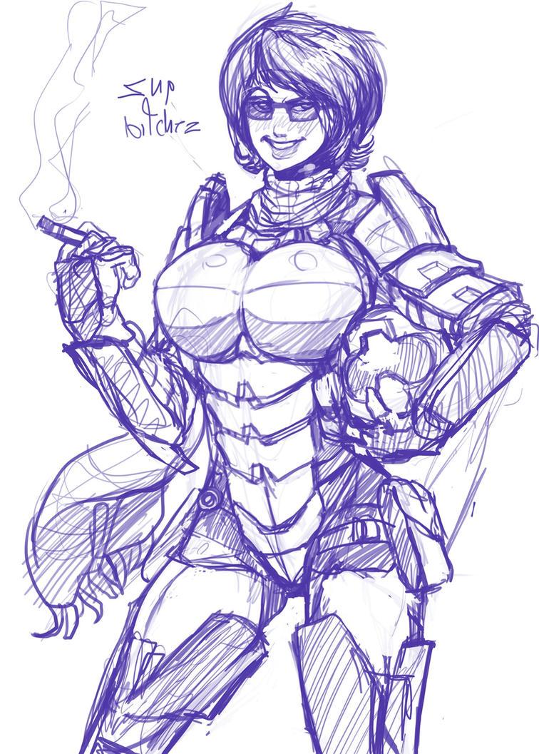 Armored Elika by EICHH-EMMM