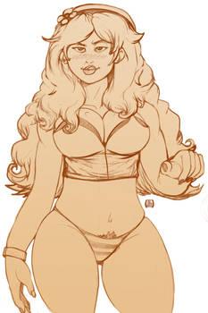 Vivian James hairy gamer girl.