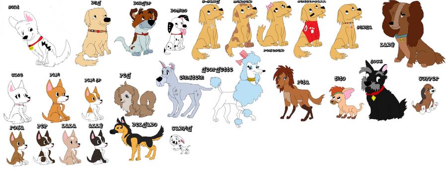 disney dogs- not done by webkinzfun8 on DeviantArt
