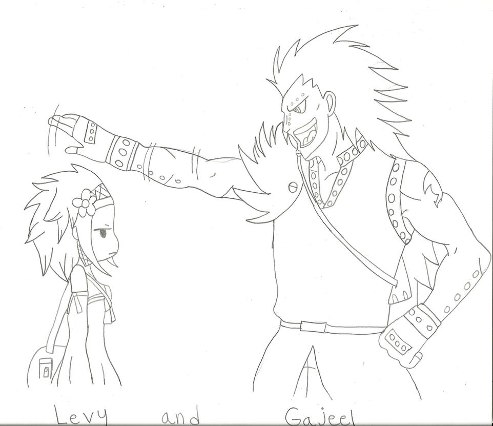 Gajeel and Levy by webkinzfun8