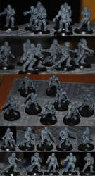 Zombie Guardsmen by CaptainThomas