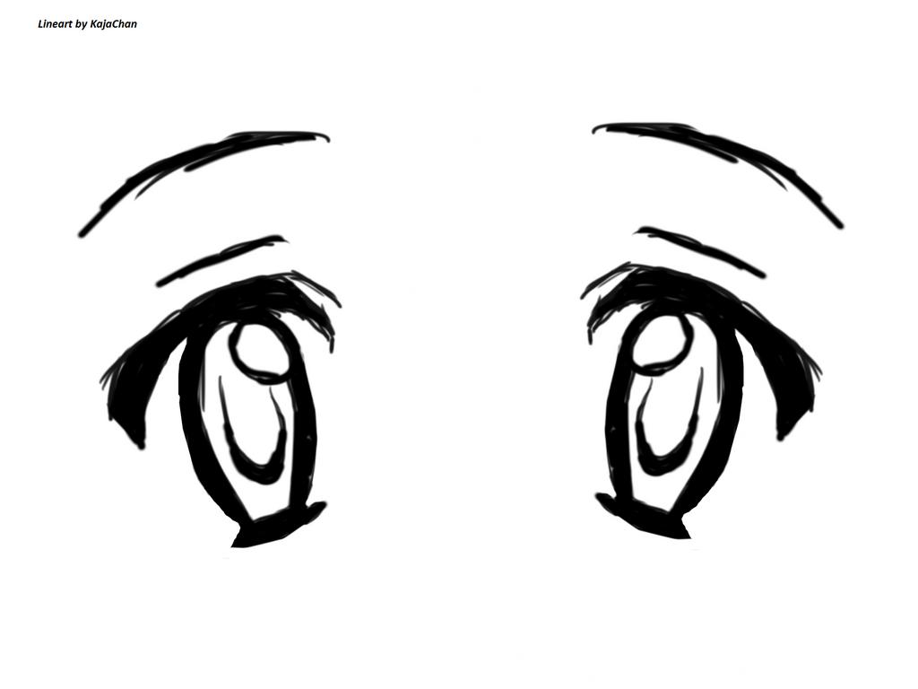 Line Art Anime : Eyes lineart by kajachan on deviantart