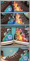 custom shoe painting by AZULSTARS