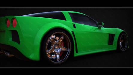 NFSMW Corvette Keyshot Render by hmoob-phaj-ej
