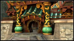Jade Temple Wallpaper