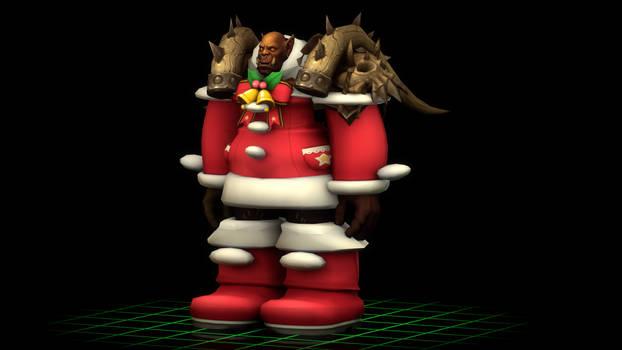 Garrosh Hellscream in Winter Holiday clothing!!