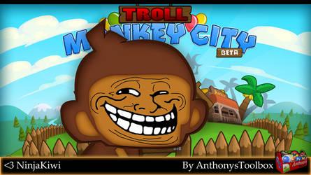 Troll Monkey - Bloons Monkey City FanArt by hmoob-phaj-ej