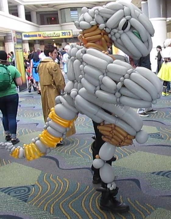 Metal Gear Ray Balloon Cosplay 1 by NoOrdinaryBalloonMan