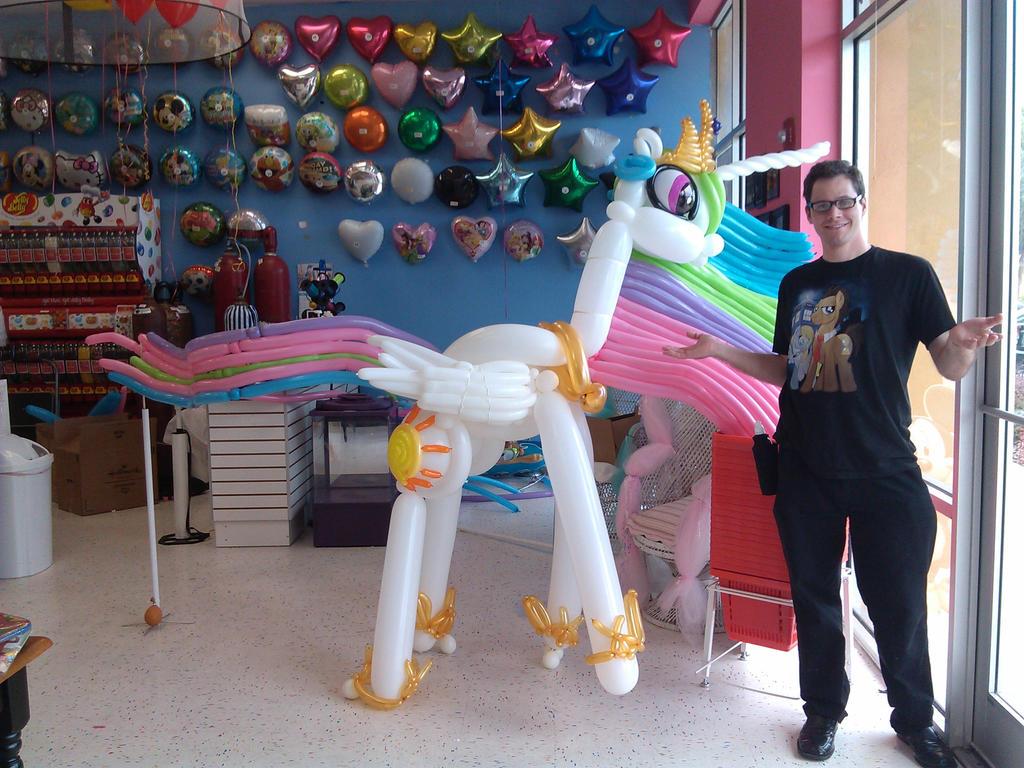 Life Sized Princess Celestia Balloon by NoOrdinaryBalloonMan on ...