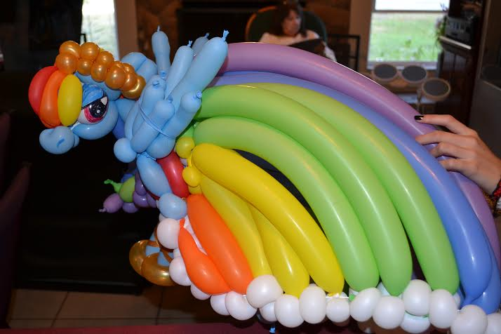 Grand Galloping Gala Rainbow Dash Balloon by NoOrdinaryBalloonMan