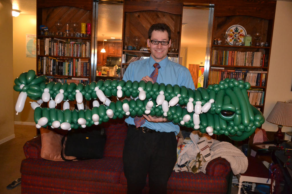 Balloon Giant Crocodile 1 by NoOrdinaryBalloonMan
