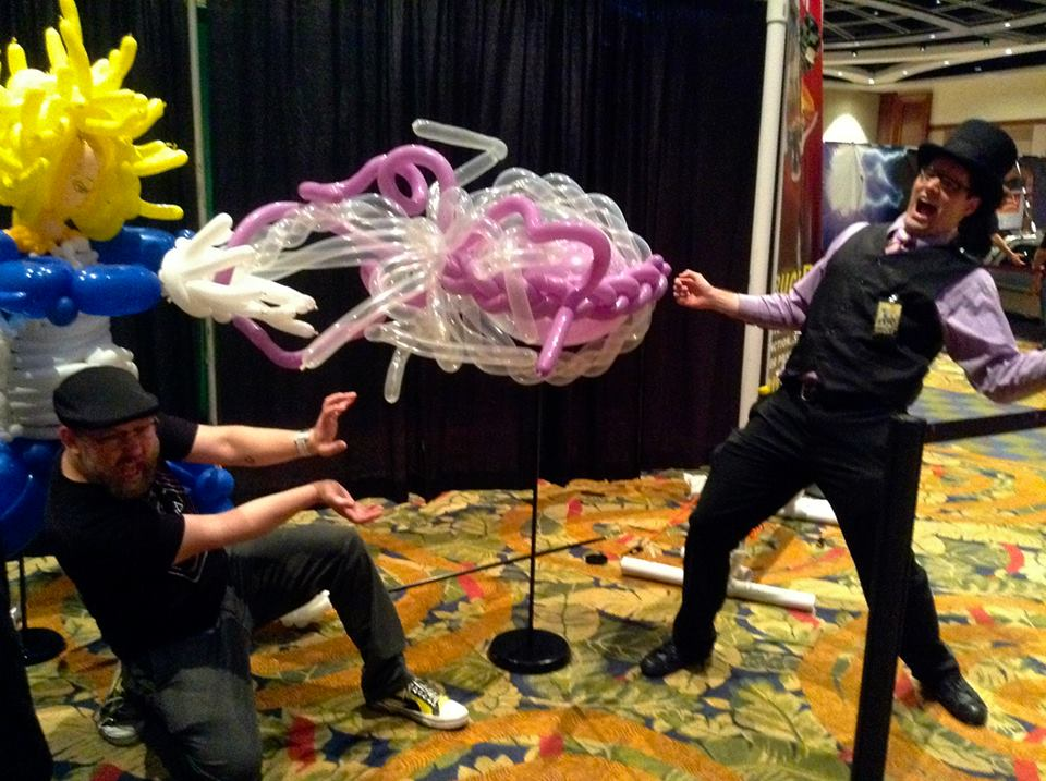 Balloon Vegeta and Chris Sabat by NoOrdinaryBalloonMan