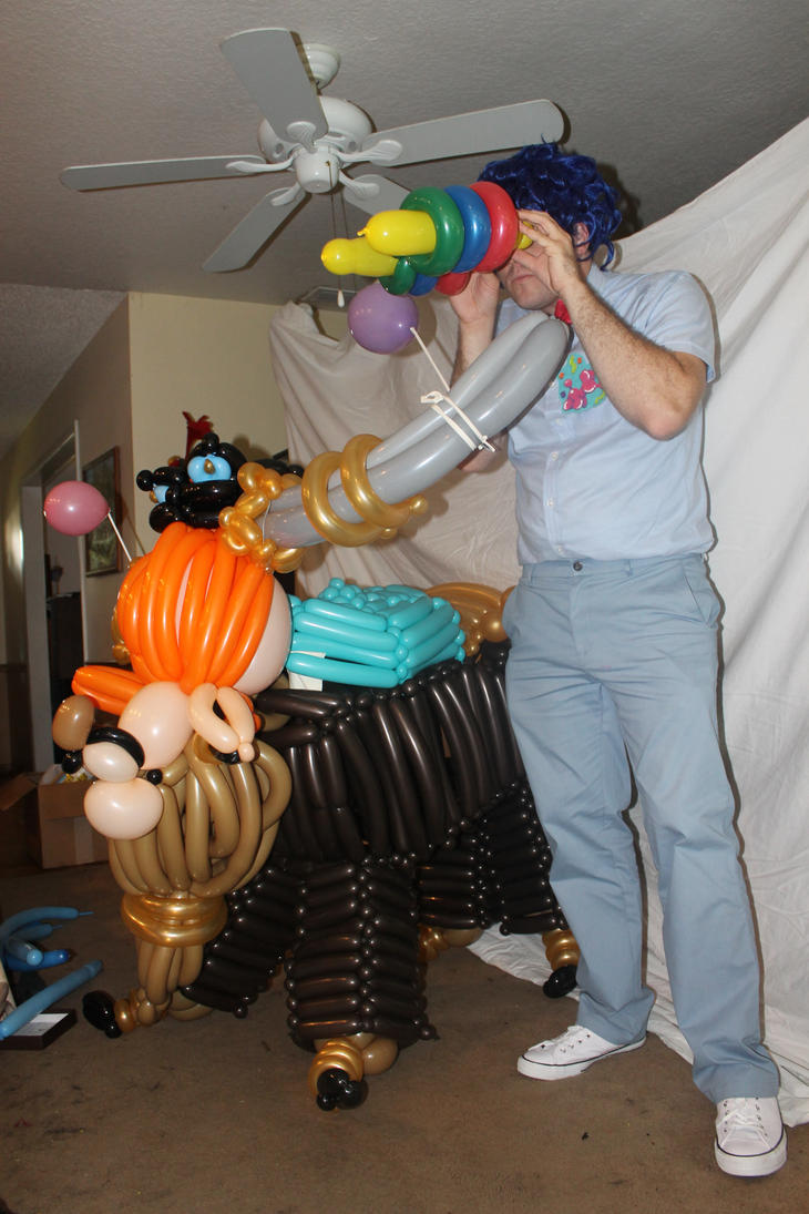 Party Pooped - Prince Rutherford balloon art by NoOrdinaryBalloonMan