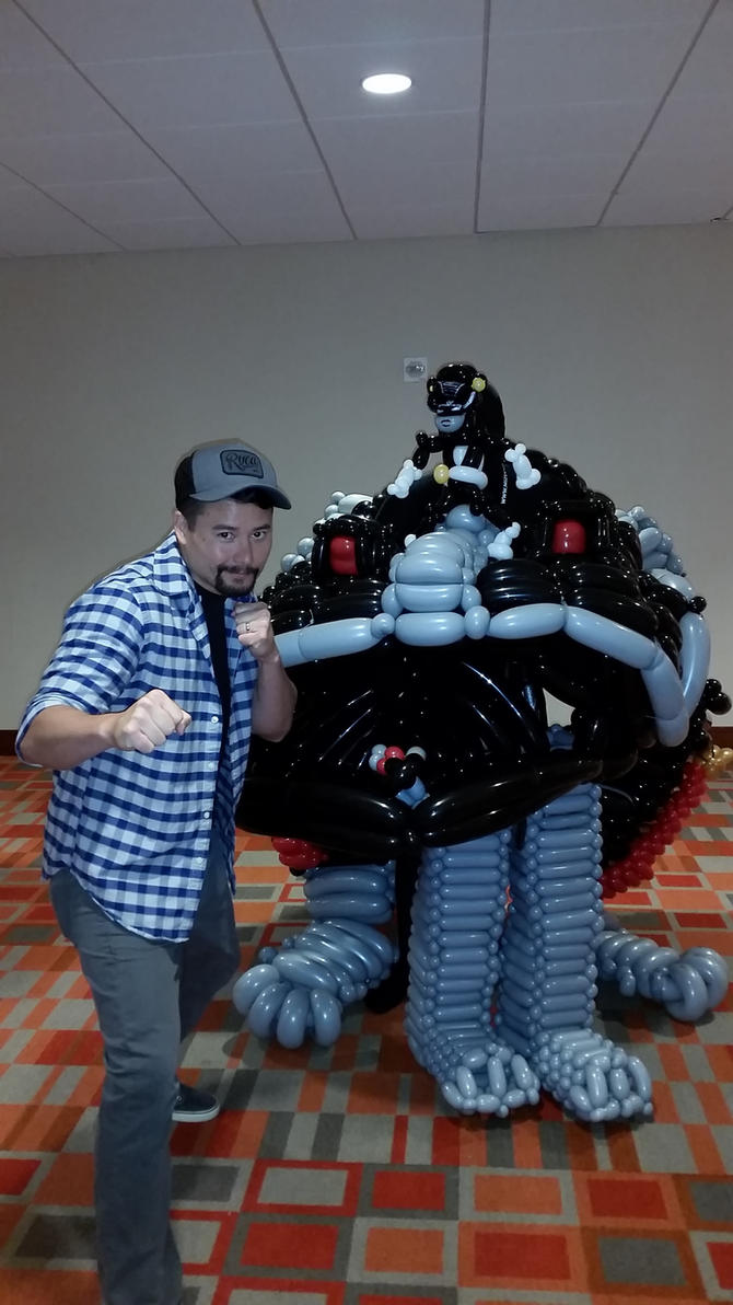 Johnny Yong Bosch and Frog Zord Balloon Cosplay by NoOrdinaryBalloonMan