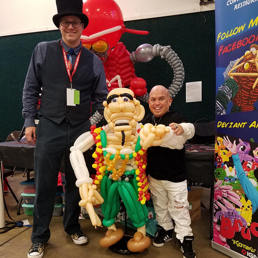 Balloon Marty the Pirate and Martin Klebba by NoOrdinaryBalloonMan