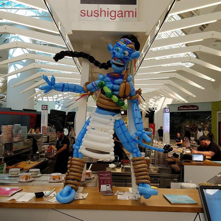 Balloon Na'vi from Avatar (Jake Sully) by NoOrdinaryBalloonMan