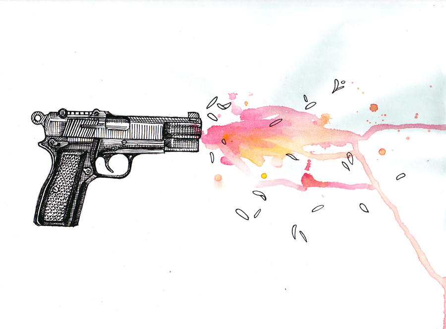 Flower in the Gun Barrel by Non-Nematode on DeviantArt