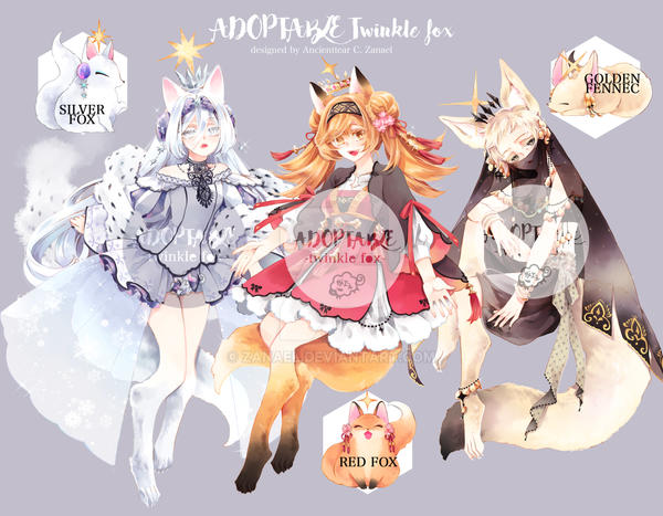 [Closed]Adoptable: twinkle fox by zanael