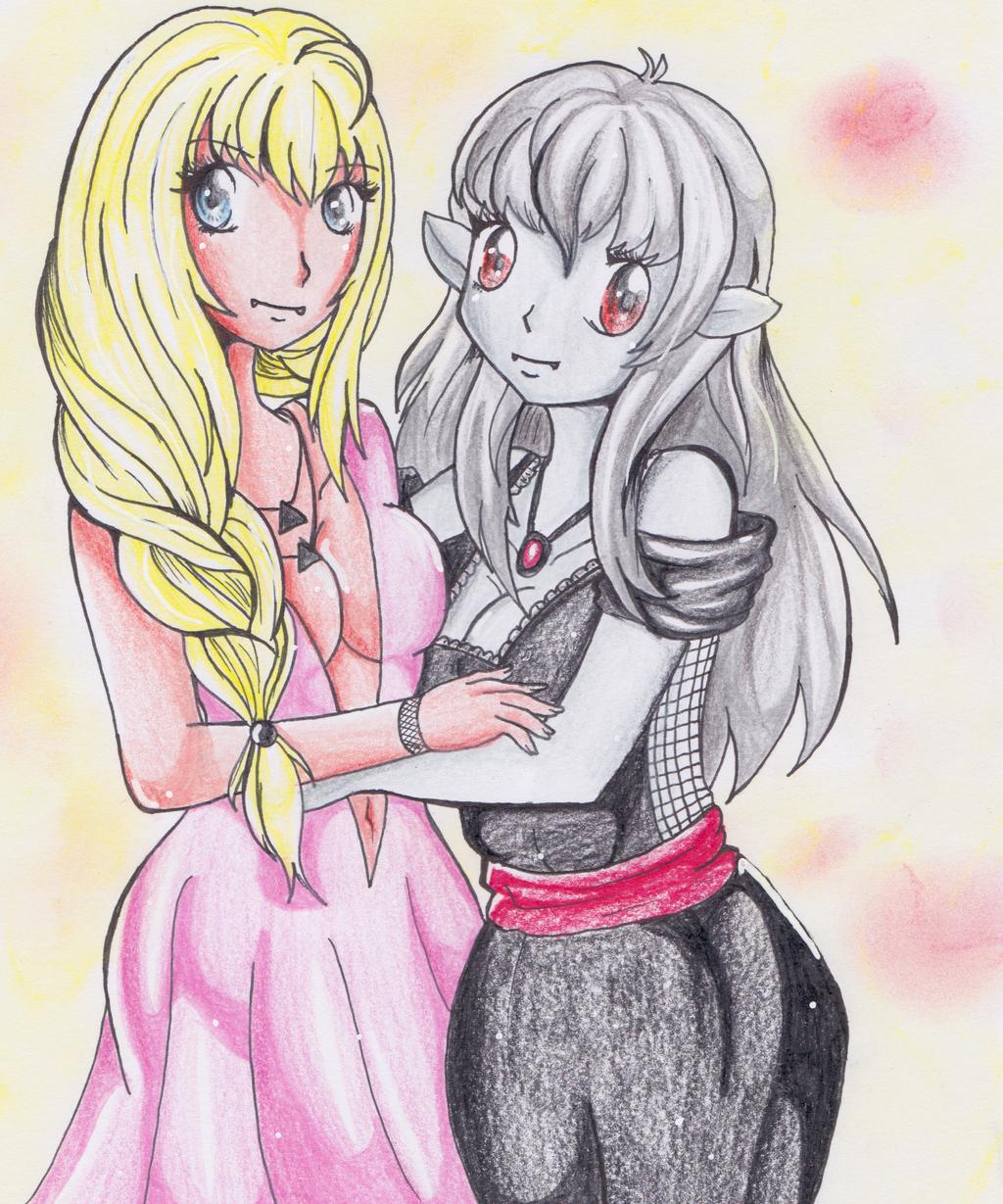 :AT: Haruka and Victoire by MimiStars