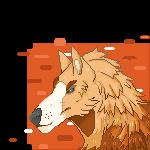 Wolf Head Pixel by AmberSpyder