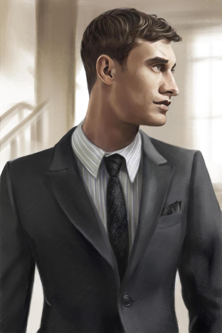 Businessman Portrait by SaraHeartArt