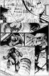 batman vs predator page 1 inks