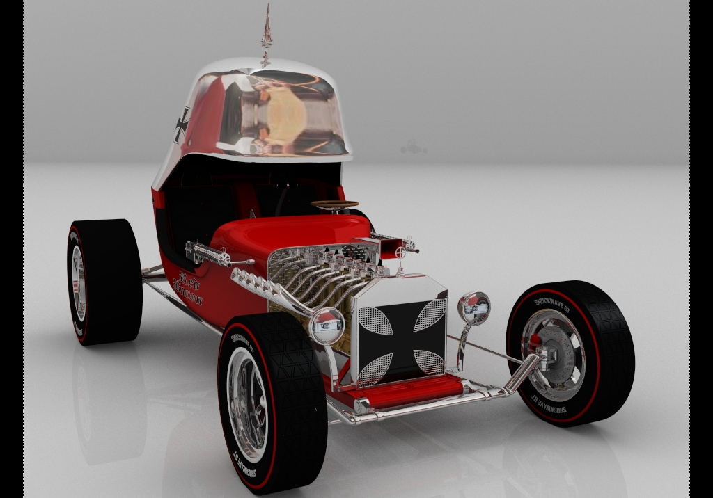 Red baron hot rod wip 3 by tequilabill