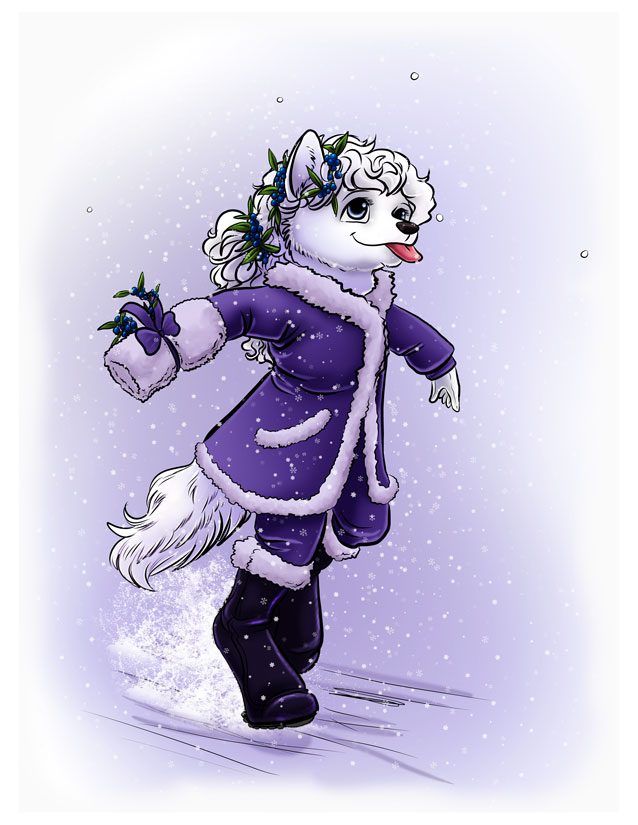 The joy of falling snow. by hariman