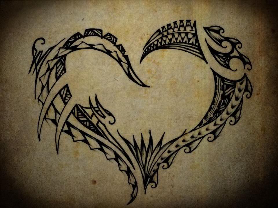 polynesian tribal heart by tpetelo on deviantart