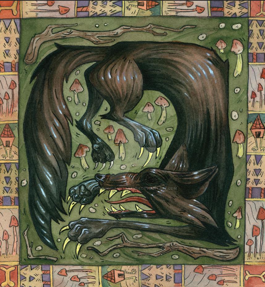 Familiar Spirits: Wolf by leedawnillustration