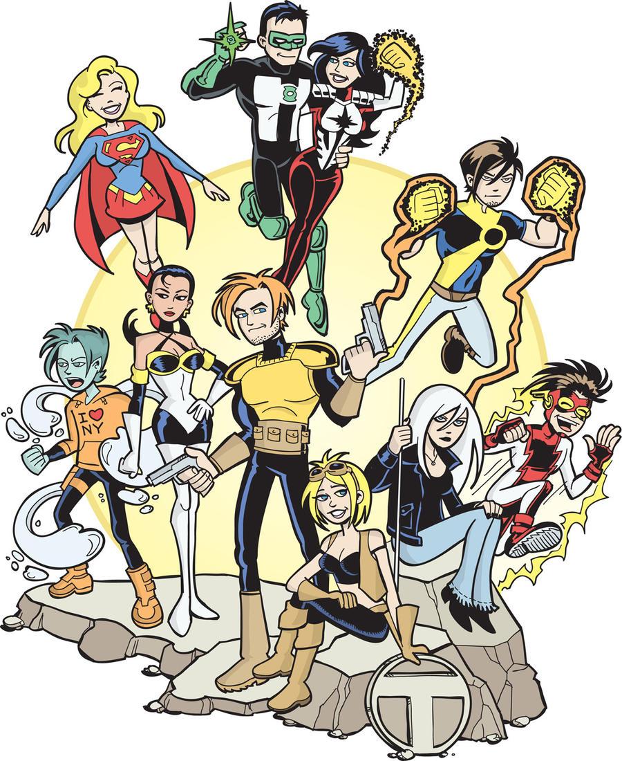 Teen Titans Zero Hour in color by BillWalko