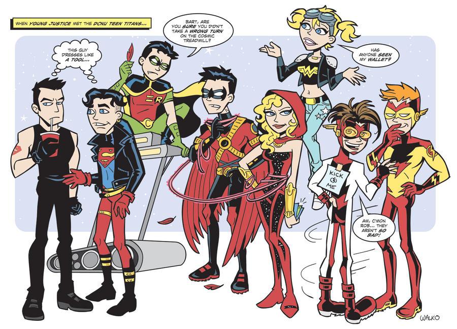 Young Justice Meet DCnU Titans by BillWalko on DeviantArt X Babies Nightcrawler