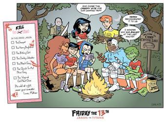 Teen Titans vs Jason Voorhees by BillWalko