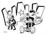 Black Bolt and Black Canary Kid by BillWalko