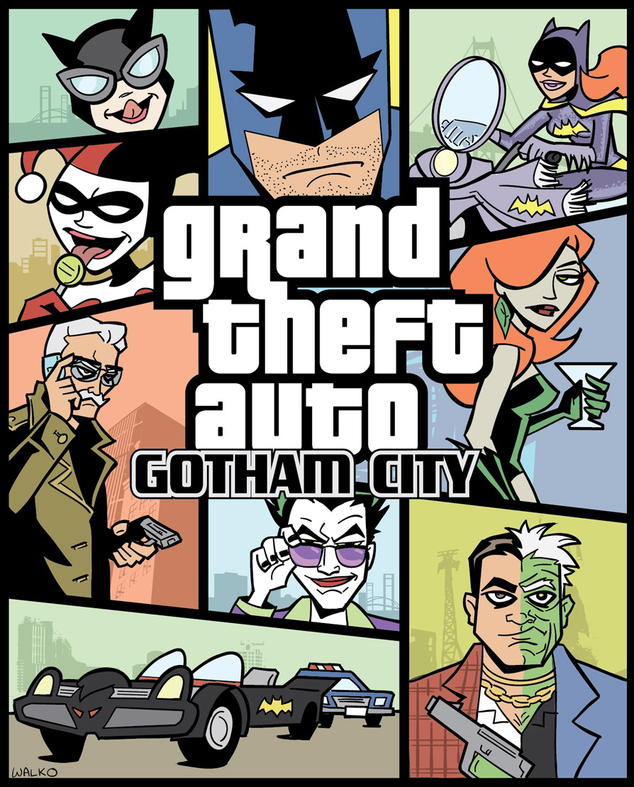 Grand Theft Auto Gotham City by BillWalko