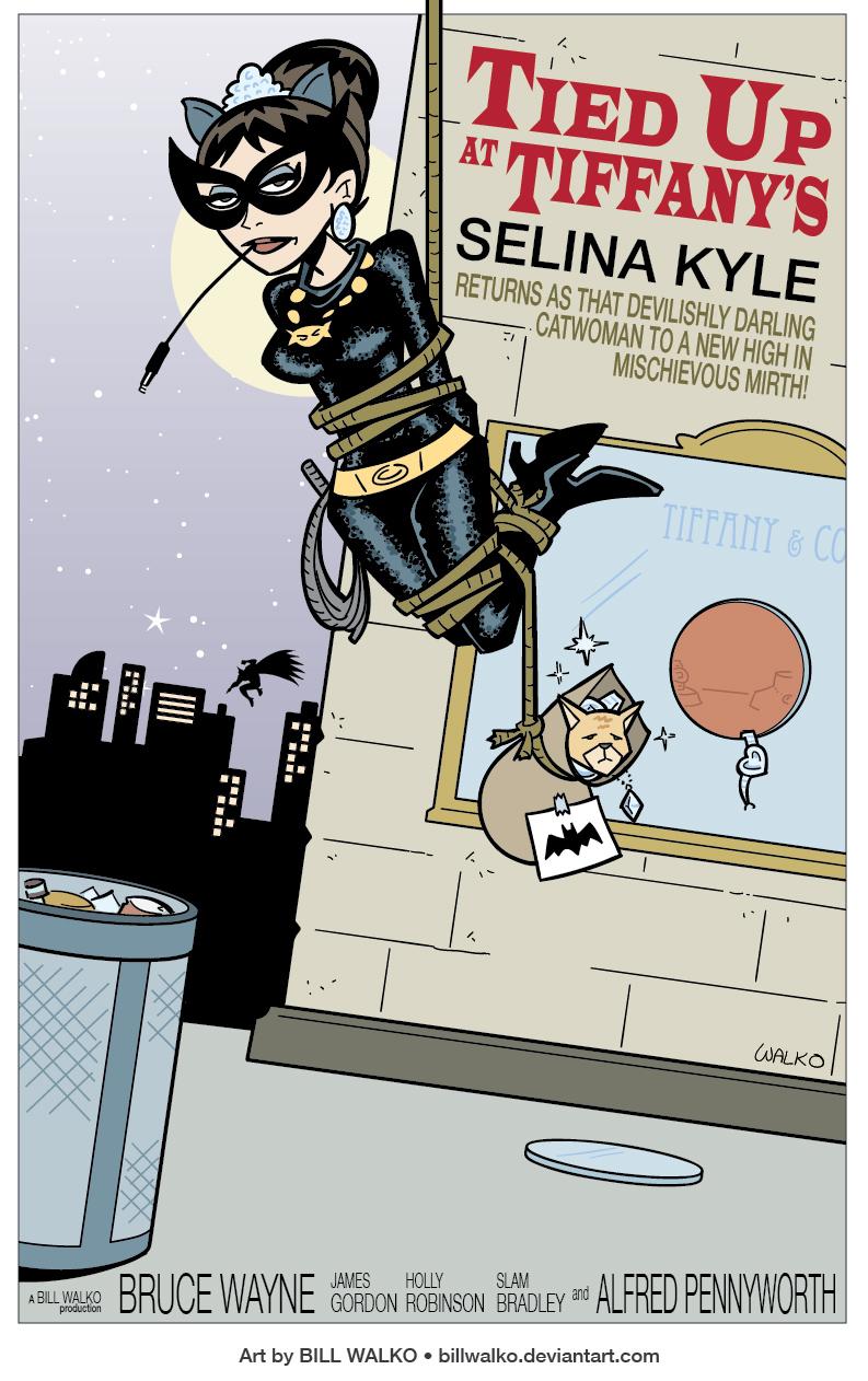 Catwoman Tied Up At Tiffanys by BillWalko