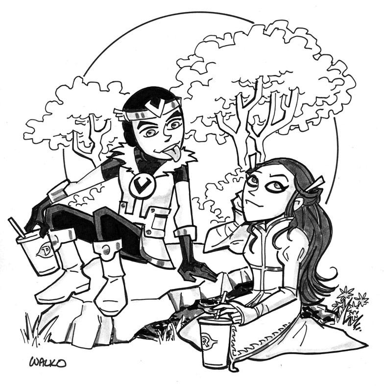 Loki and Leah by BillWalko
