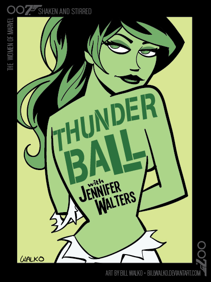 She-Hulk / Shaken and Stirred by BillWalko