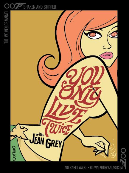 Jean Grey / Shaken and Stirred by BillWalko