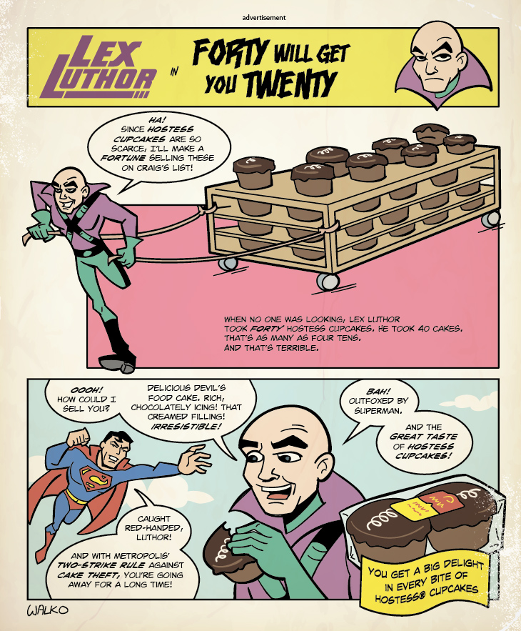 Luthor 's 40 Cupcakes by BillWalko