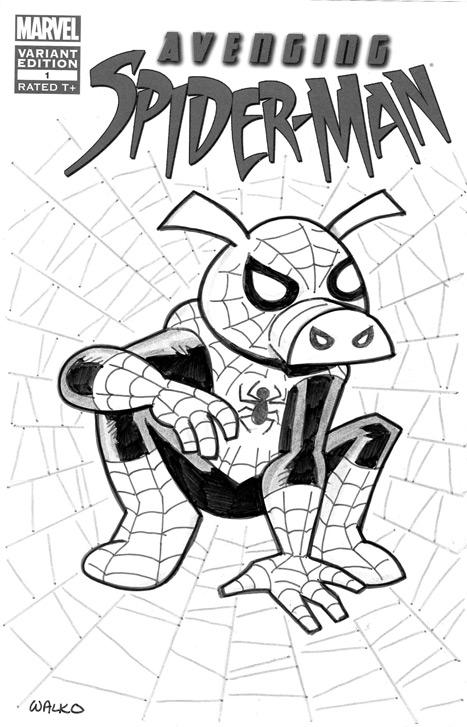 The Avenging Spider-Ham by BillWalko