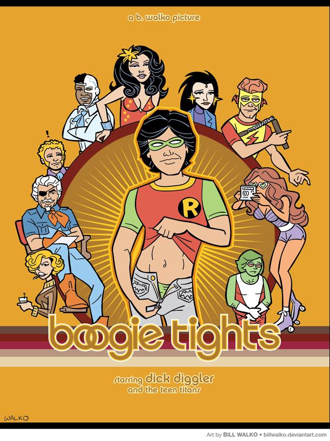 Teen Titans Boogie Tights by BillWalko
