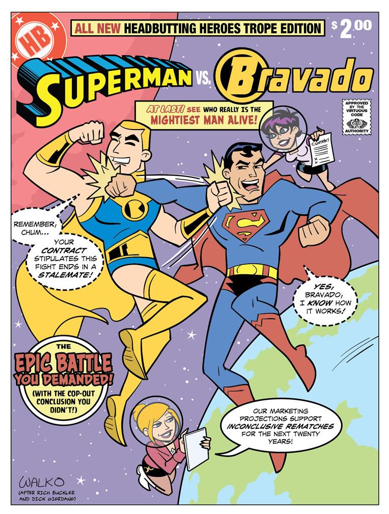 Superman vs Bravado by BillWalko
