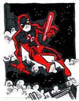Daredevil Sketch Card by BillWalko